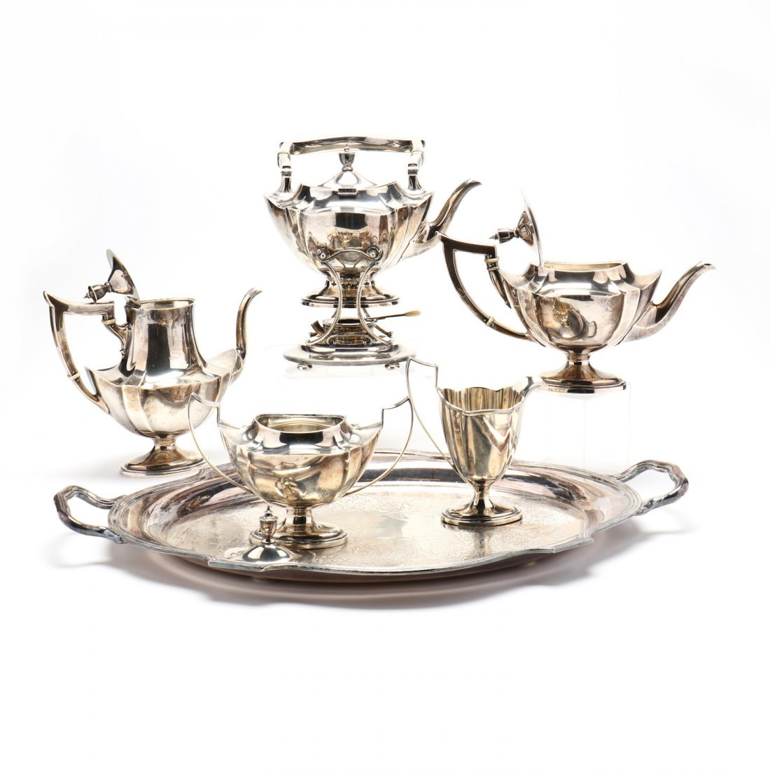 "A Gorham ""Plymouth"" Sterling Silver Tea & Coffee Servic - 2"