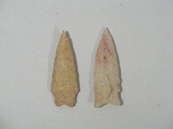 16: Two Quartzite Archaic Projectile Points,