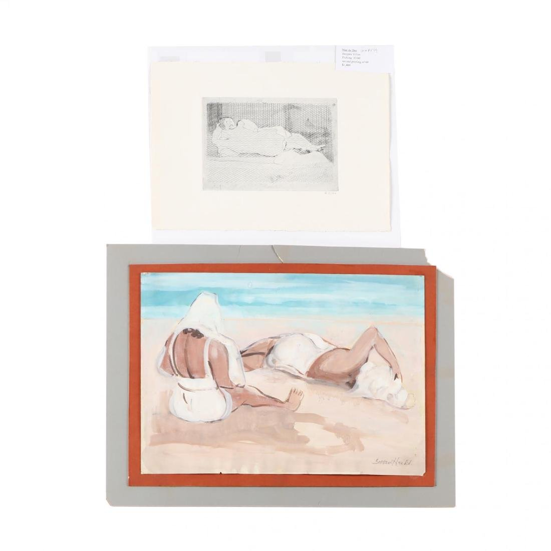 Two 20th-Century Figural Works - Jacques Villon and
