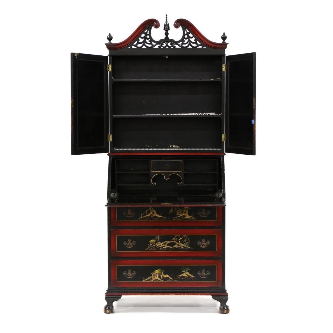 Chinoiserie Decorated Secretary Bookcase - 2
