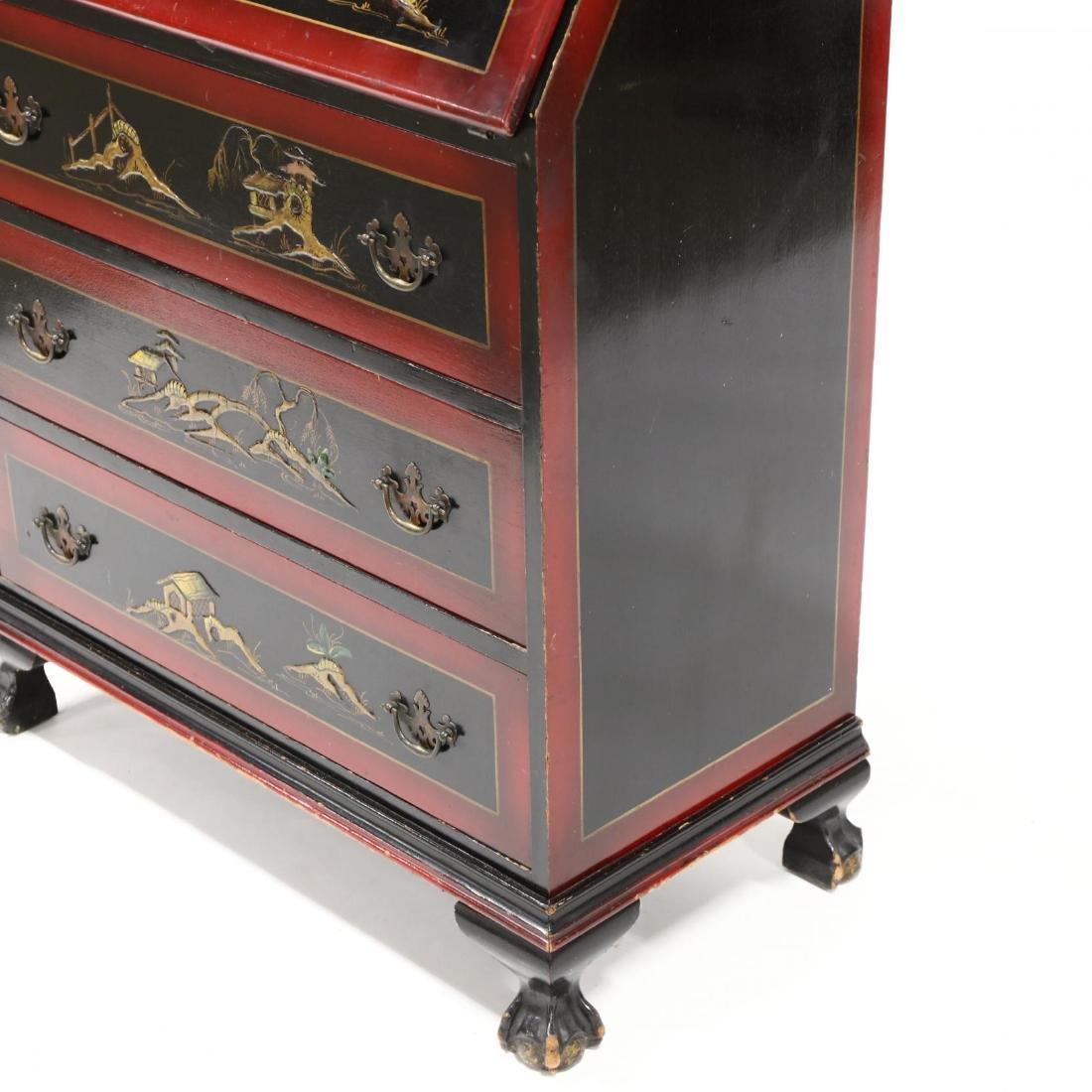 Chinoiserie Decorated Secretary Bookcase - 4