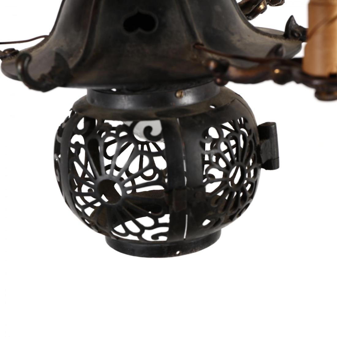 Vintage Japanese Lantern Hanging Light - 2