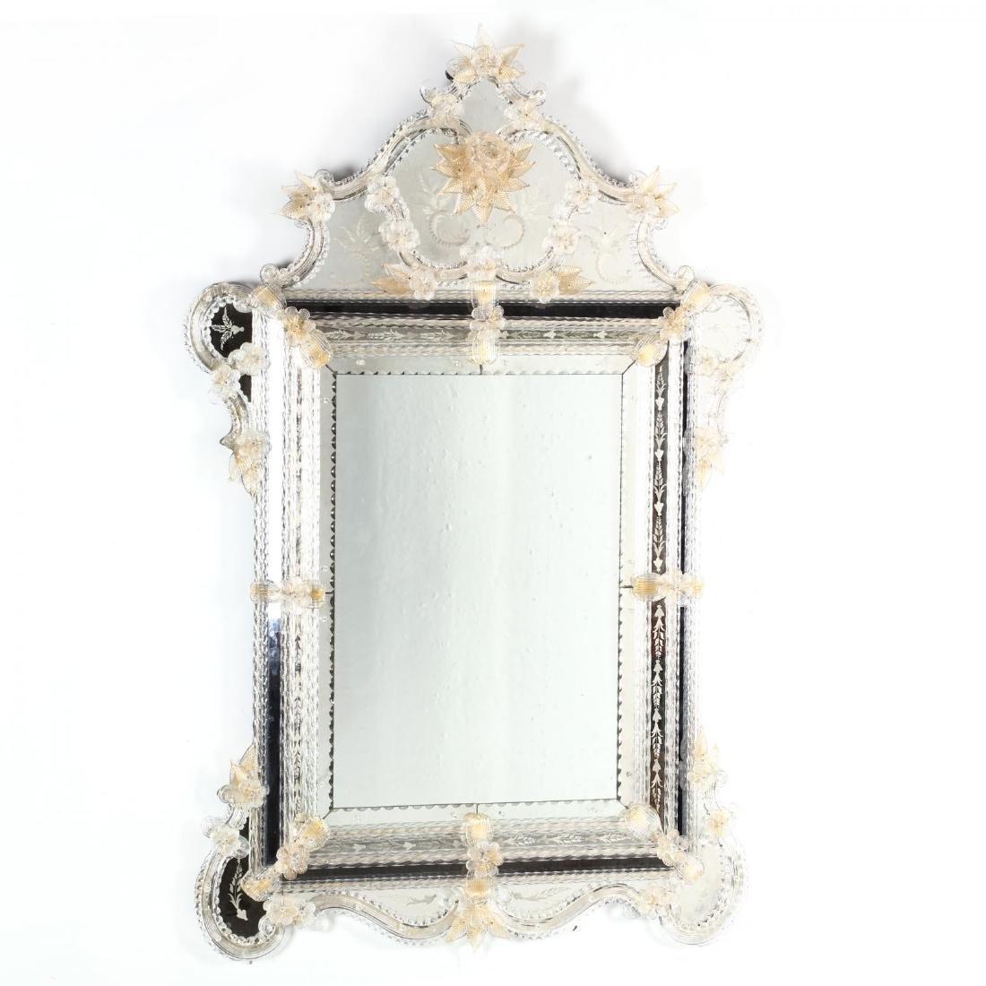 Venetian Engraved Mirror