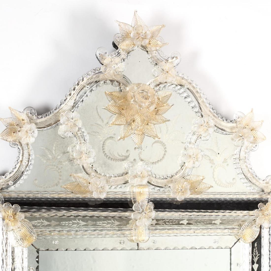 Venetian Engraved Mirror - 3