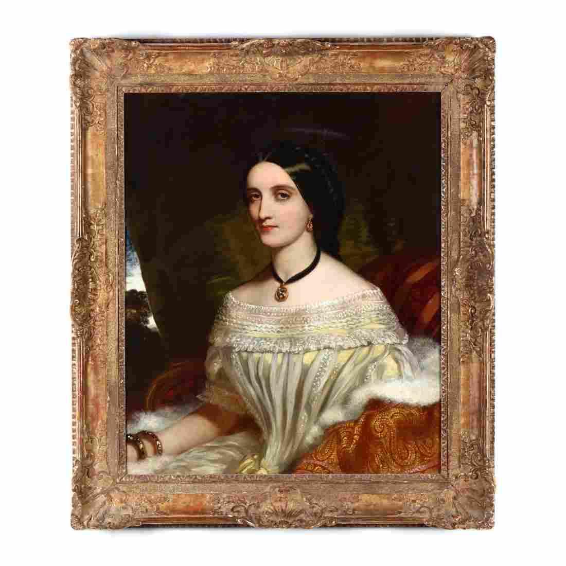 An Antique Portrait of a Woman, circa 1840