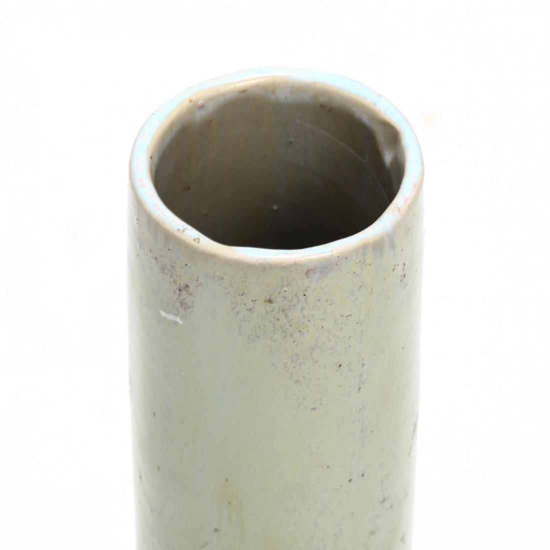 Studio Pottery Tall Neck Vase - 2