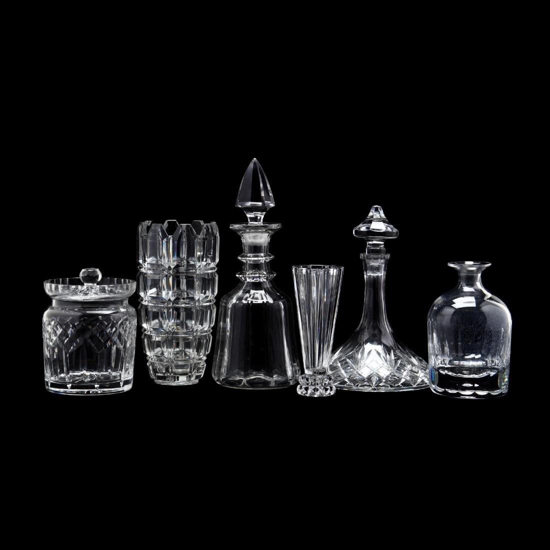 Six Crystal Tablewares