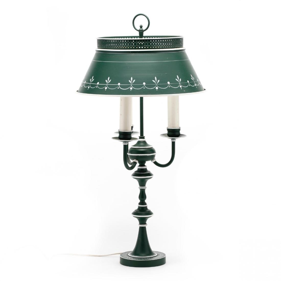 Vintage Tole Ware Table Lamp