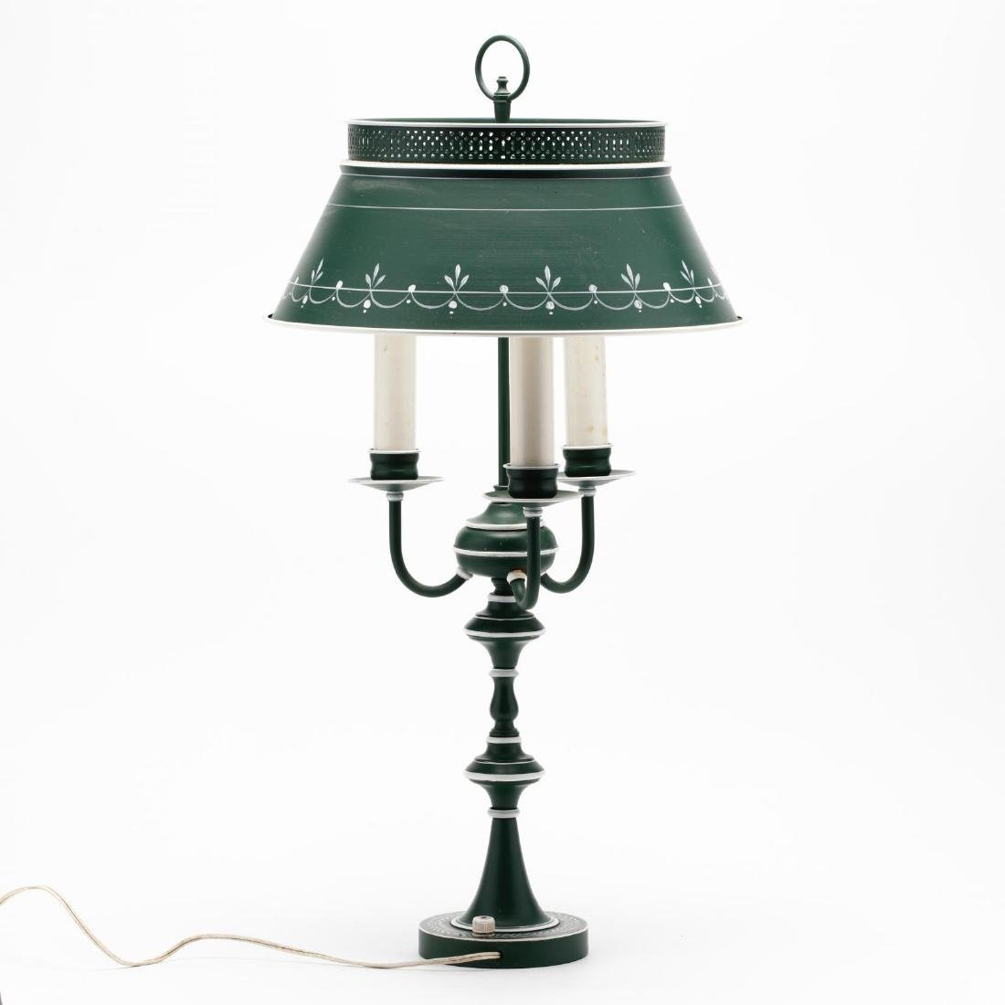 Vintage Tole Ware Table Lamp - 2