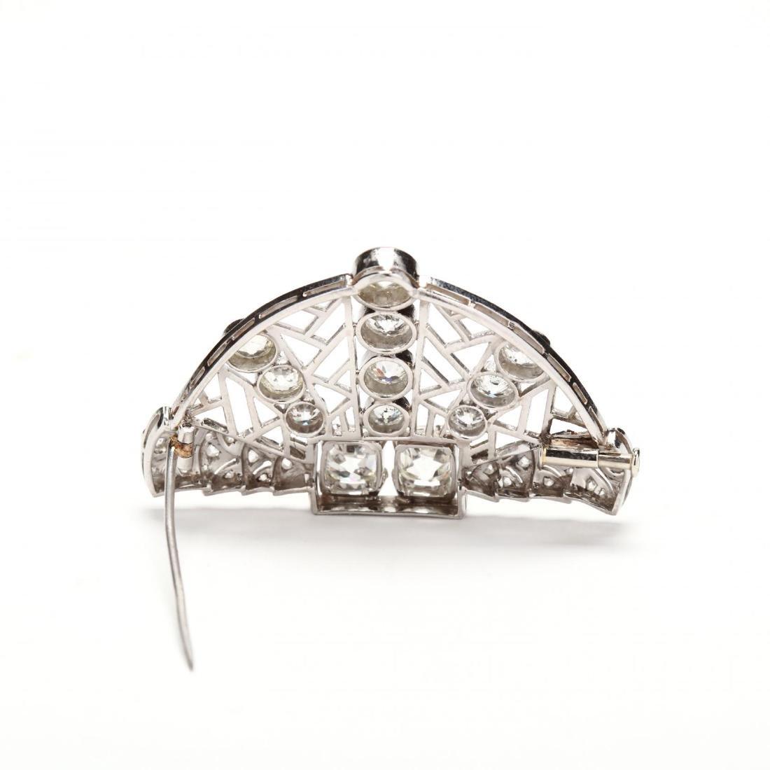 Antique Platinum and Diamond Brooch, Janesich - 2