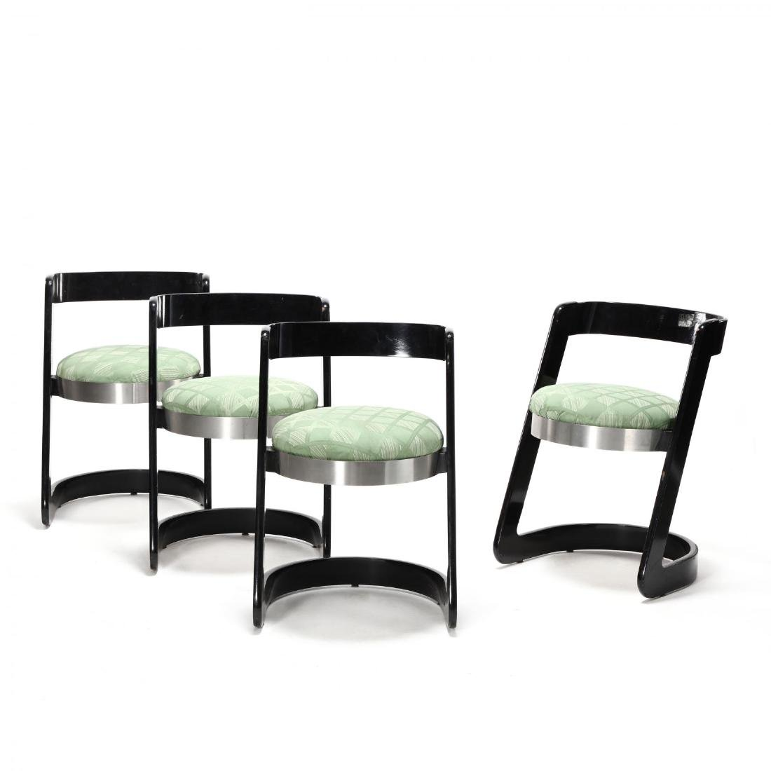 Willy Rizzo (Italy, 1928-2013), Set of Four Chairs