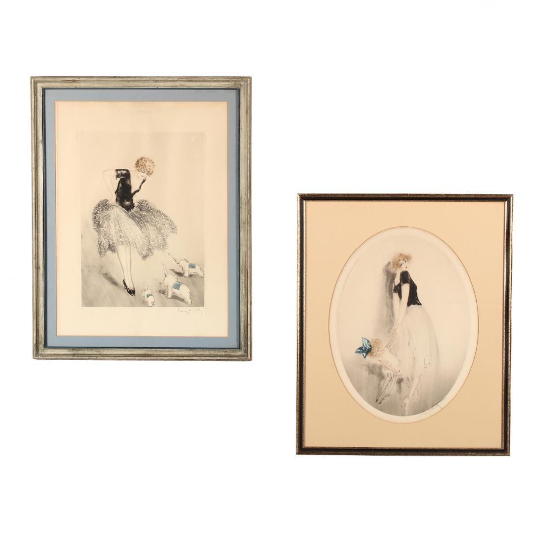 Louis Icart (French, 1888-1950),  La Poupée  and  Les