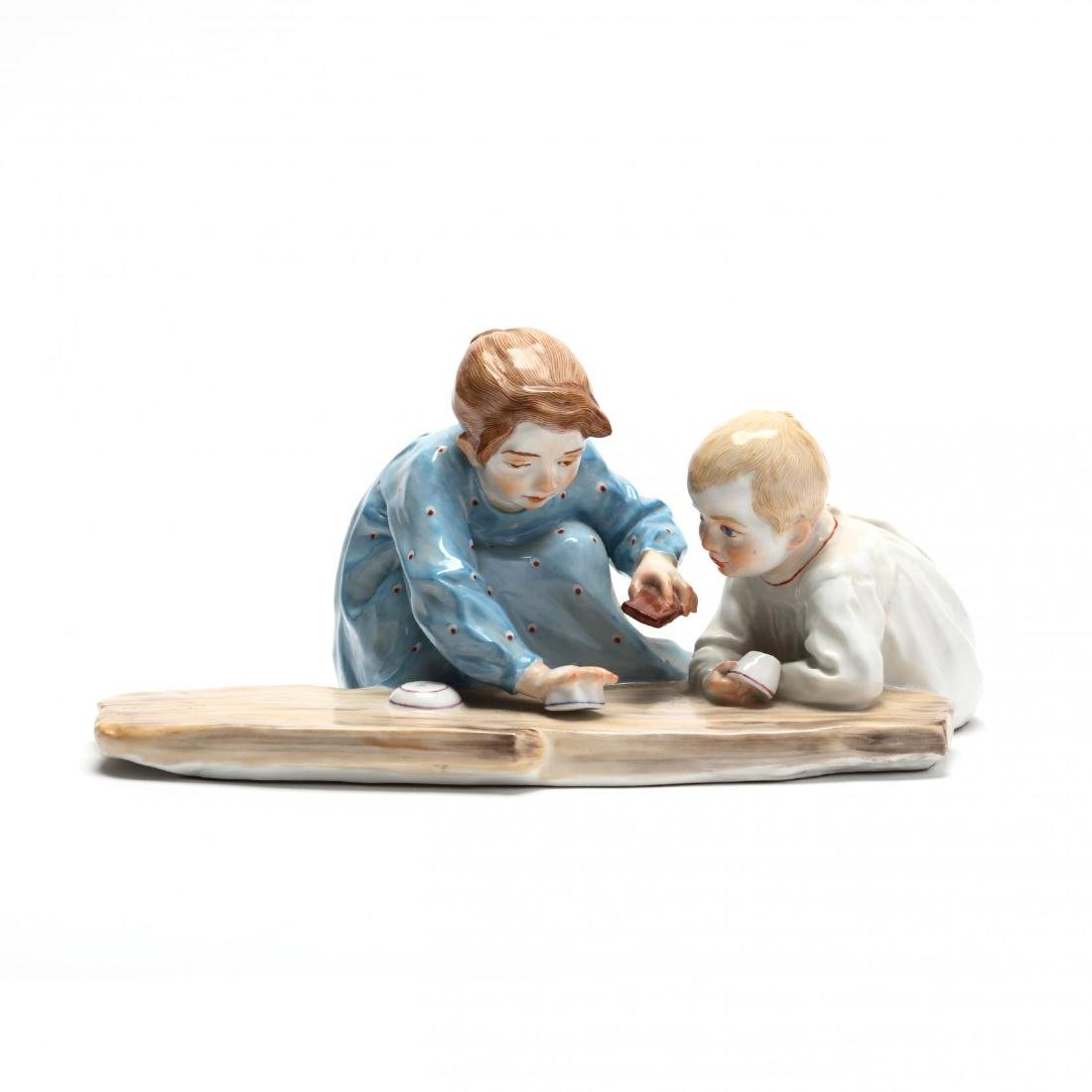 Meissen Hentschel Porcelain Figural Composition
