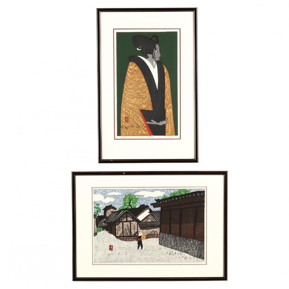 Two Japanese Woodblock Prints by Kiyoshi Saito