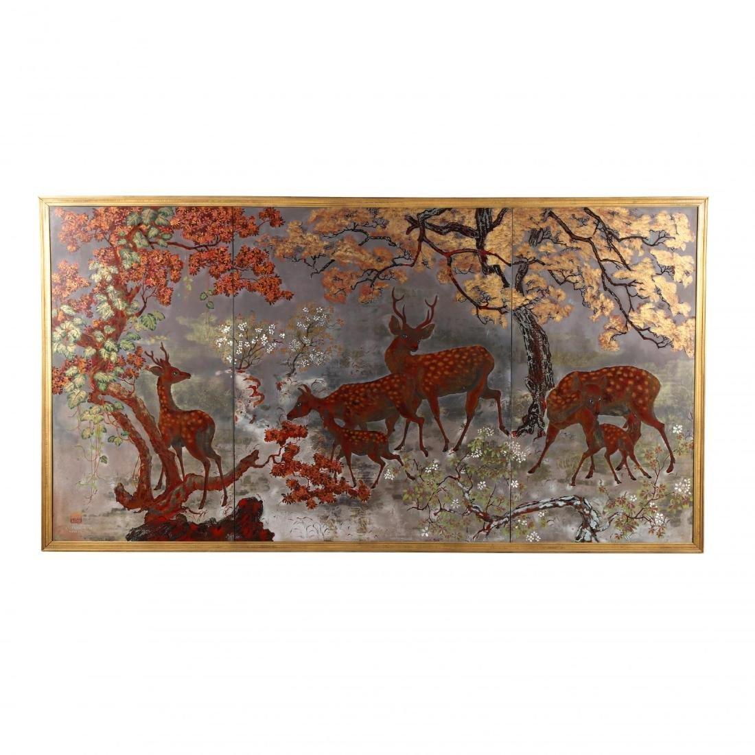 Tran Dzu Hong (Vietnamese, 1922-2002), A Painting of