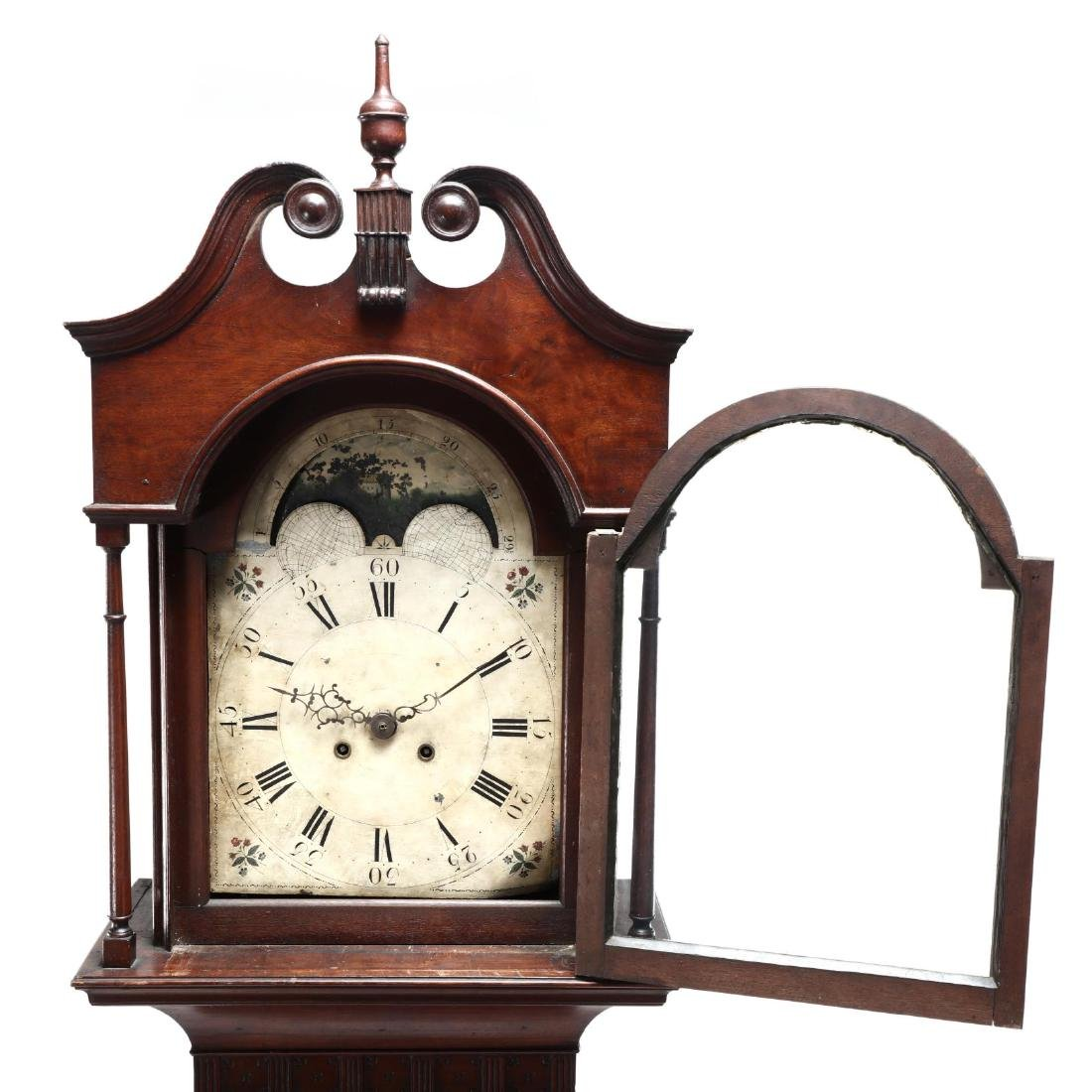 American Chippendale Mahogany Tall Case Clock - 2