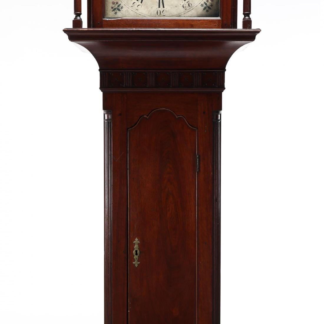 American Chippendale Mahogany Tall Case Clock - 3