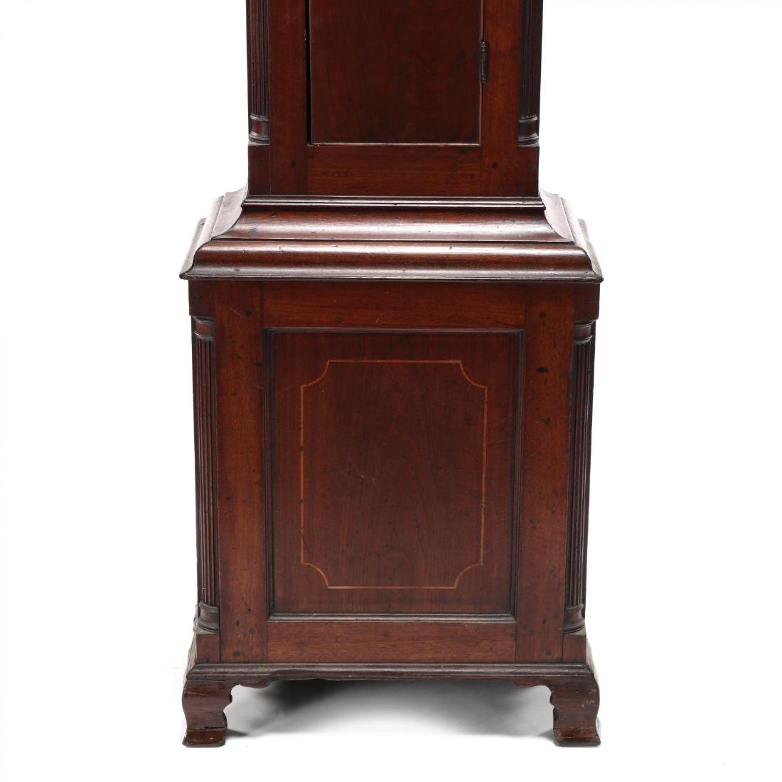 American Chippendale Mahogany Tall Case Clock - 5