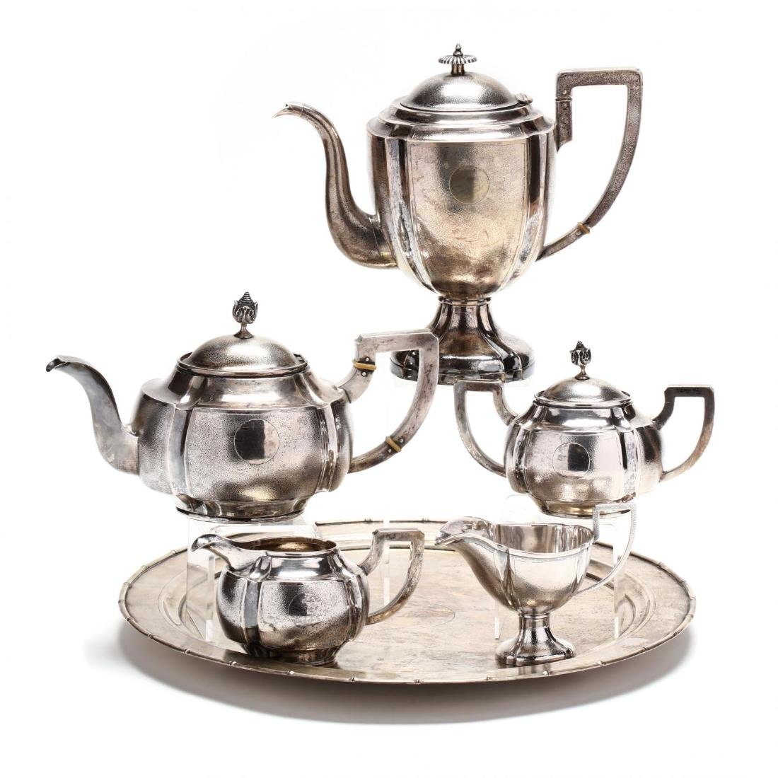 A Chinese Export Silver Art Deco Tea & Coffee Service