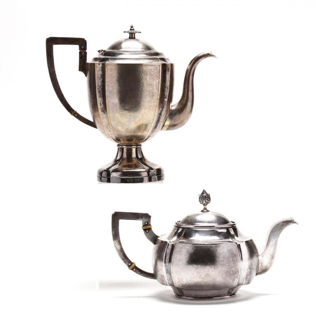 A Chinese Export Silver Art Deco Tea & Coffee Service - 5
