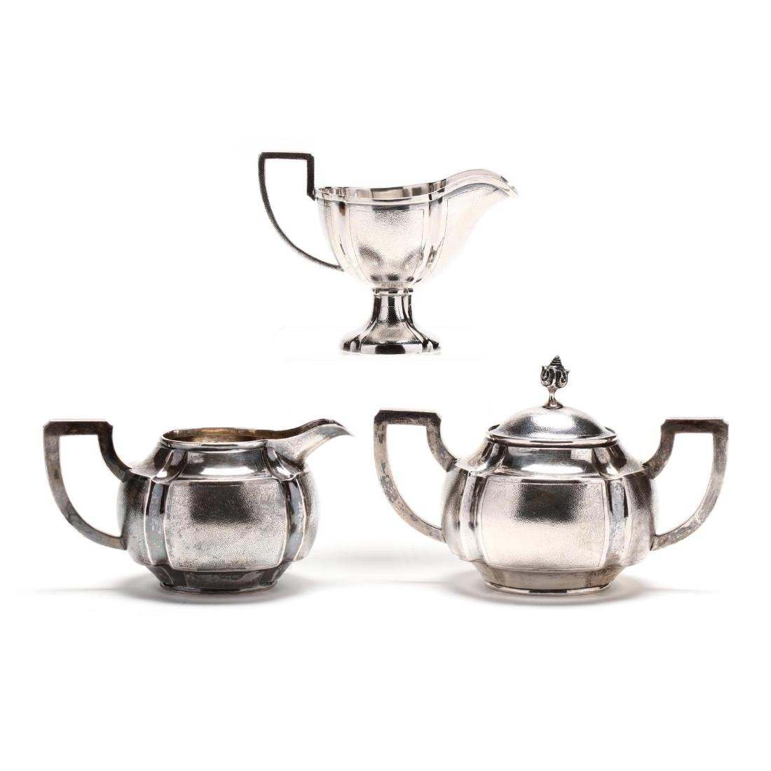 A Chinese Export Silver Art Deco Tea & Coffee Service - 7