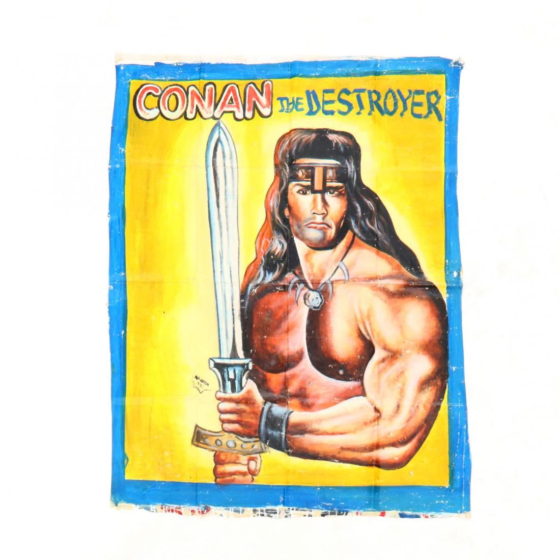 Vintage Ghana Movie Poster, Conan the Destroyer - Oct 03, 2018   Leland  Little Auctions in NC