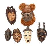 Six African Tribal Masks