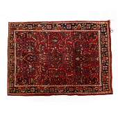 SemiAntique Sarouk Area Rug 3 ft 4 in x 4 ft 9 in