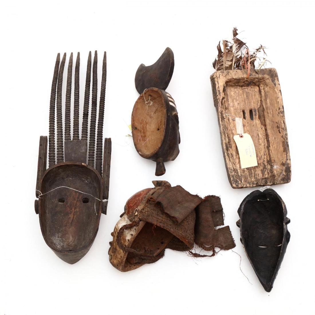 Five African Tribal Masks - 5