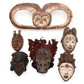 Six African Tribal Masks