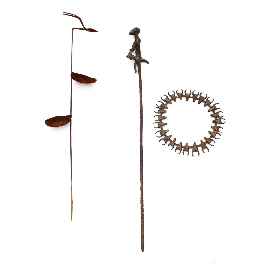 Three African Metal Objects