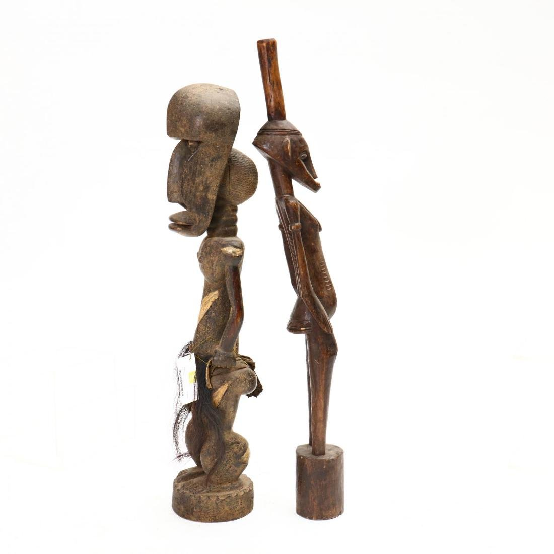 Four African Female Carved Tribal Statues - 6