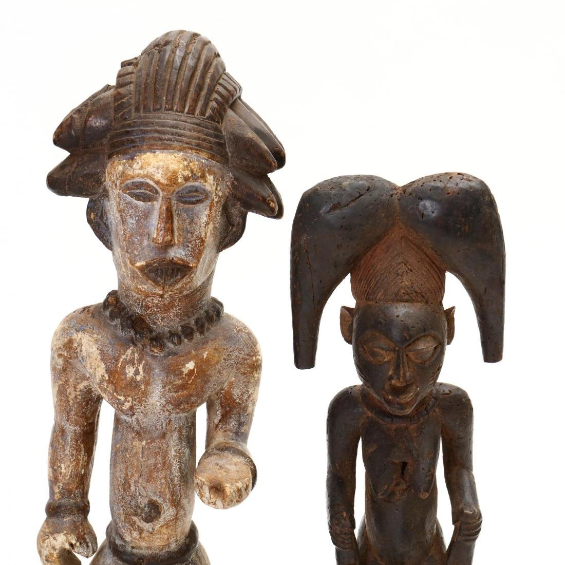 Four African Carved Tribal Statues - 2