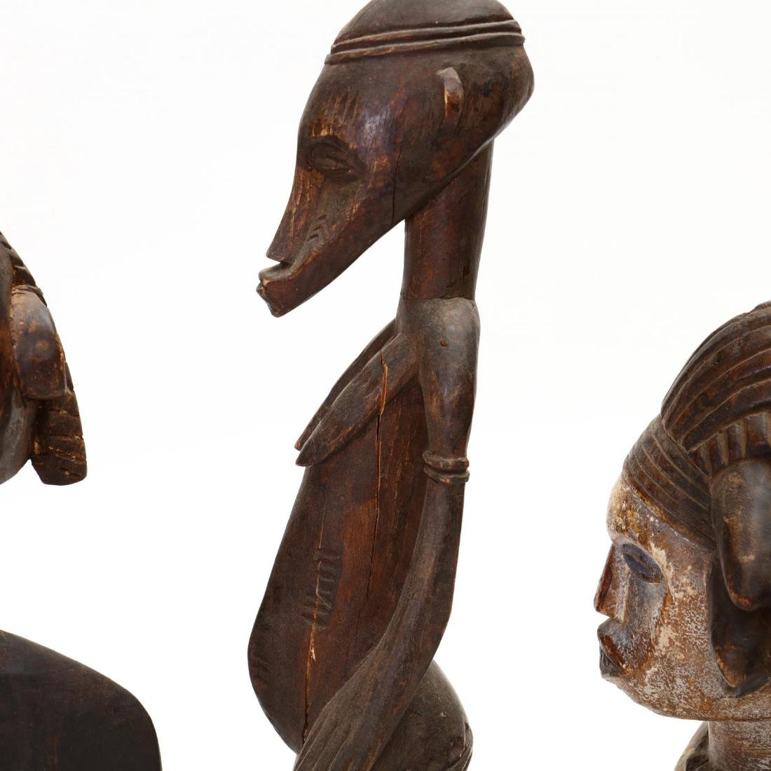 Four African Carved Tribal Statues - 3