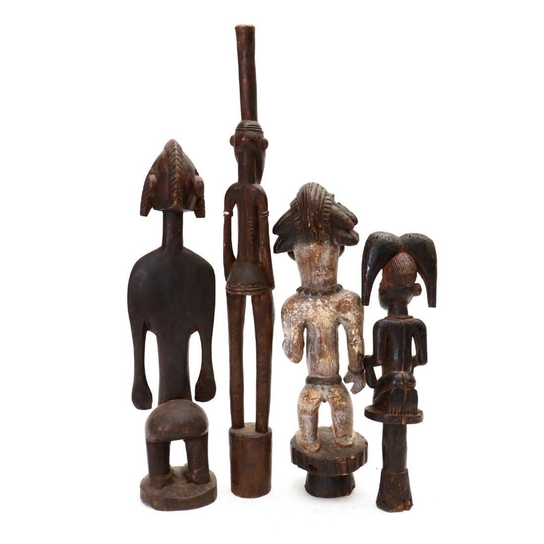 Four African Carved Tribal Statues - 4