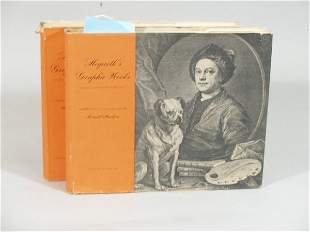 """Two Volumes, """"Hogarth's Graphic Works,"""""""