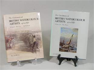 """Two Volumes, """"The Dictionary of British Watercolour"""