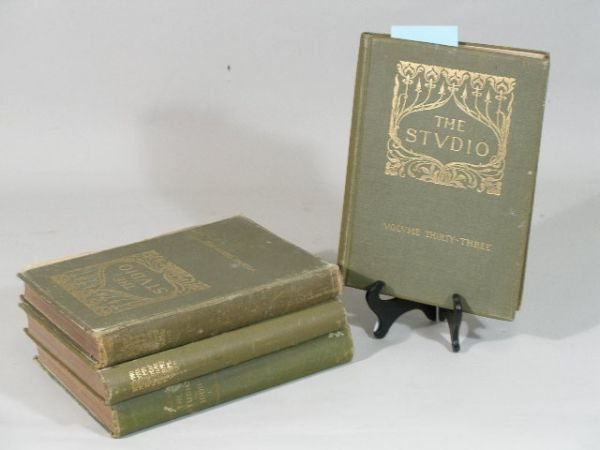 "10: Group of Three Volumes ""The Studio,"""