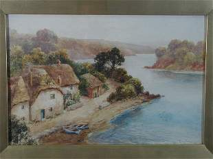 Watercolor on Paper, John Mortimer, Scottish, 20th