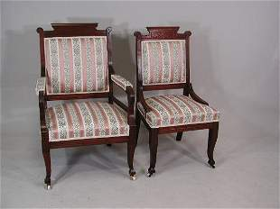 Late Victorian Three Piece Parlor Suite, American,