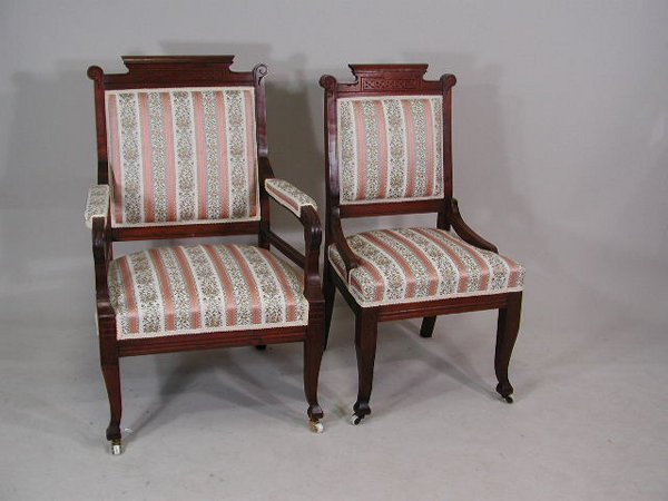 13: Late Victorian Three Piece Parlor Suite, American,