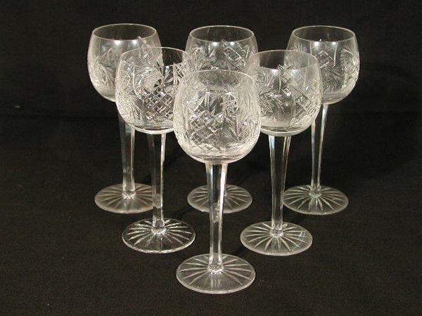 18: Set of Twelve Cut Glass Hock Wines,