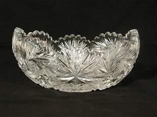 Cut Glass Center Dish,