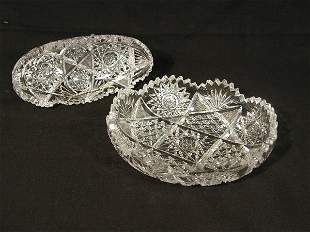 Two Pieces of Cut Glass,