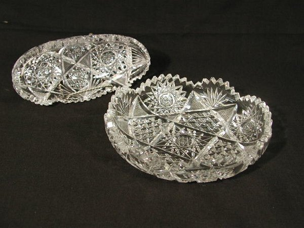 21: Two Pieces of Cut Glass,