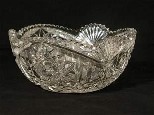 Brilliant Period Cut Glass Deep Bowl,
