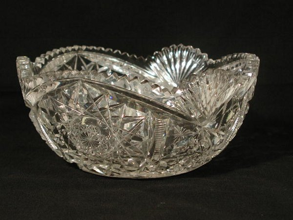 22: Brilliant Period Cut Glass Deep Bowl,