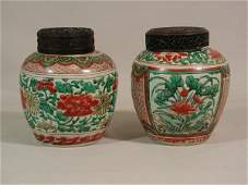 55: Two Chinese Export Ginger Jars,