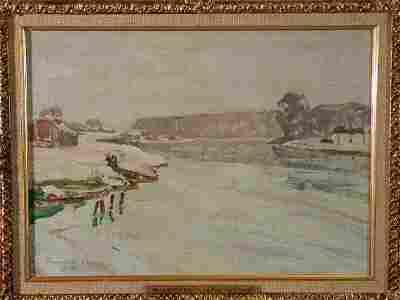 167: Oil on Canvas, att. Oskar Kokoschka, 1886-1980,