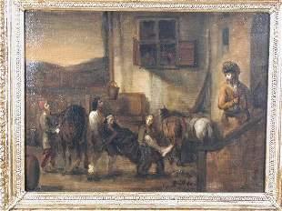 Oil on Canvas, The Good Samaritan,